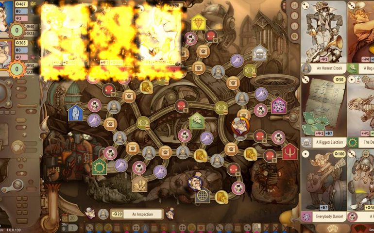 Стратегическая настольная онлайн-игра Gremlins Inc. происходит в стимпанковском городе.