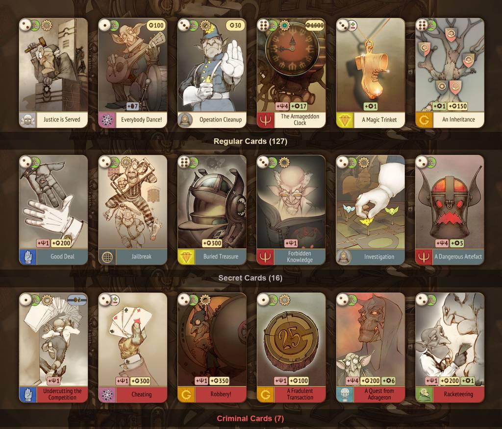 В Gremlins огромное количество игровых карт