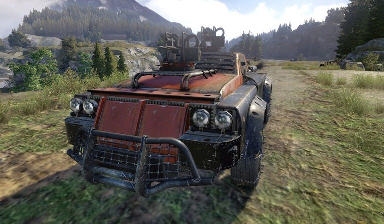 Crossout - постапокалиптический MMO-экшн, в котором можно собрать бронемашину и сразиться на ней в ммо-боях.