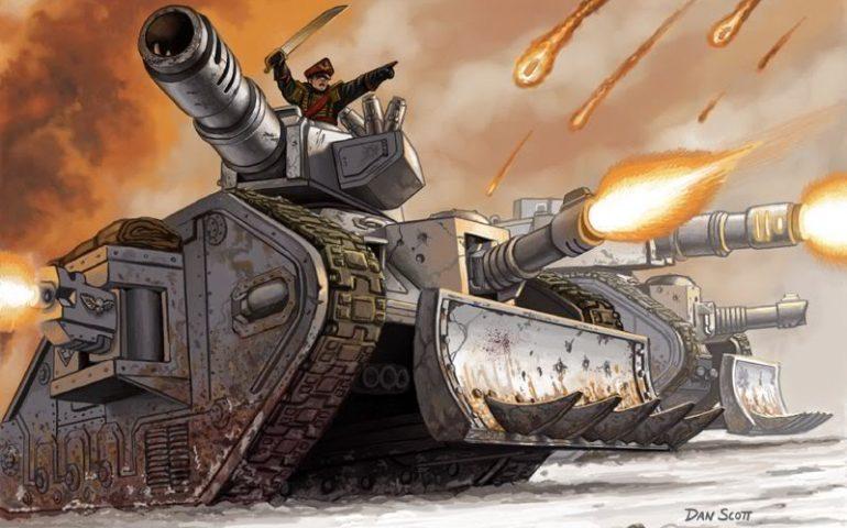 Арт-крафт в Crossout - испытание танка Леман Русс из Warhammer в боевых миссиях