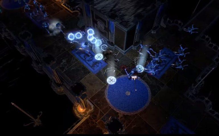 Разработчики Path of Exile показали новое умение - это Storm Burst, или Грозовой взрыв в русской версии игры.
