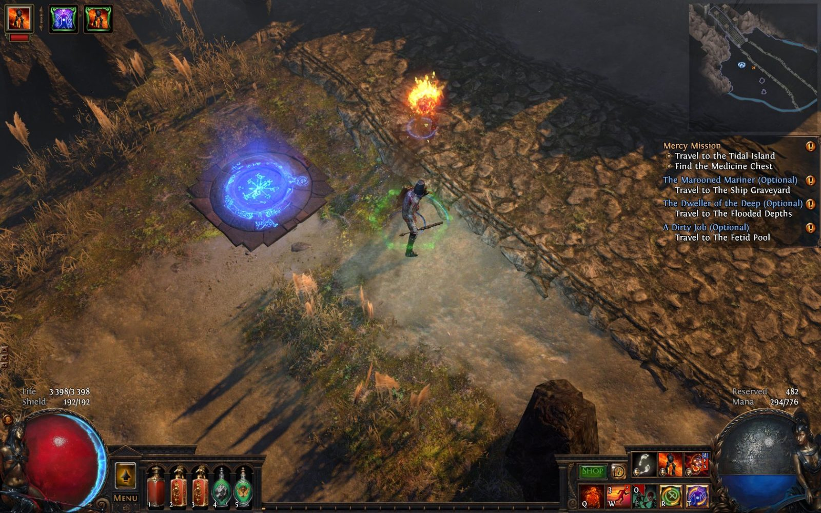 path of exile how to get to prisoners gate